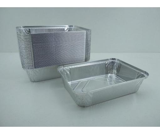 Контейнер из пищевой алюминиевой фольги прямоугольный 2000мл SP88L 50шт (1 пачка)