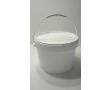 Ведро круглое с крышкой 15,7 л белое (15 шт)