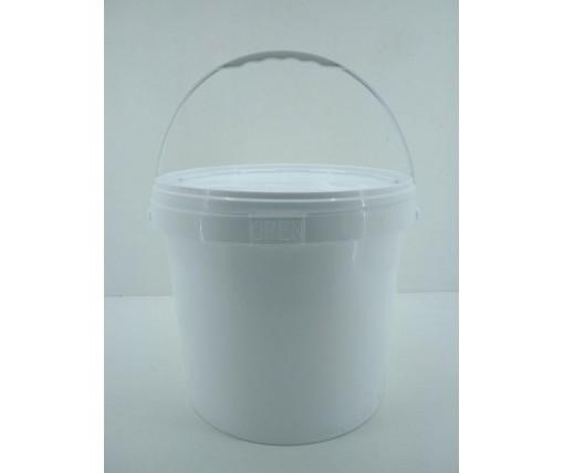 Емкость для пищевых продуктов с крышкой 20 л, белое