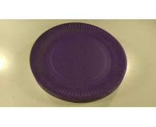 Тарелка бумажная  23см  Фиолетовая  20шт (1 пач)