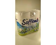 Туалетная бумага(2слоя)  белая с ароматом (а4)  SOFFIONE AROMA (1 пач)