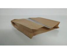Пакет бумажный с ПП окном  18/5*25,5 коричневый (1000 шт)
