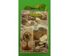 Пакет бумажный подарочный  МИНИ 8*12*3.5 арт65 (12 шт)