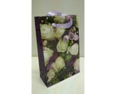 Пакет бумажный подарочный  МИНИ 8*12*3.5 арт49 (12 шт)
