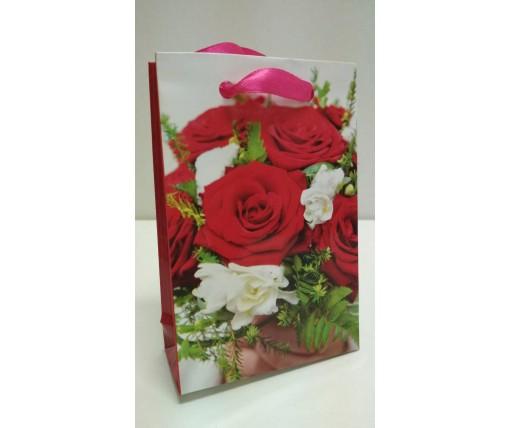 Пакет бумажный подарочный  МИНИ 8*12*3.5 арт51 (12 шт)