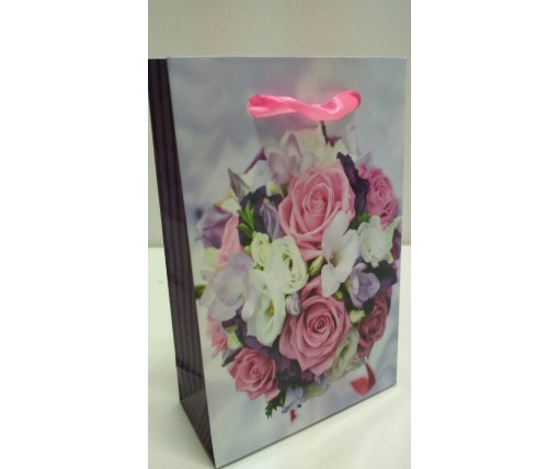 Пакет бумажный подарочный  МИНИ 8*12*3.5 арт57 (12 шт)