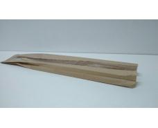 Пакет бумажный с ПП окном (40мм) 9/4*57 коричневый (1000 шт)