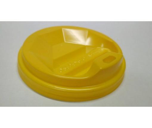 Крышка под стакан  бумажный  Ф71 (гар) желтая  Киев (50 шт)
