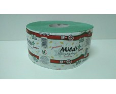 "Туалетная бумага на втулке Джамбо ""Mildi"" 90*195/60 (1 слой) PREMIUM зеленая (8 рул)"