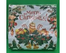 Салфетка (ЗЗхЗЗ, 20шт)  La FleurНГ Рождественская икебана(321) (1 пач)