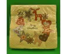 Праздничная салфетка (ЗЗхЗЗ, 20шт)  La FleurНГ Фетровый декор(319) (1 пач)