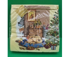 Праздничная салфетка (ЗЗхЗЗ, 20шт) LuxyНГ Желанное место(1231) (1 пач)