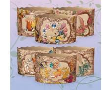 Формы бумажные для кулича (85*130) Викторианские (400гр) (50 шт)