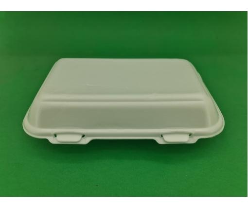 ᐉЛанч-бокс из вспененного полистирола с крышкой (246*150*60) белый HP-10 250 штук в мешке