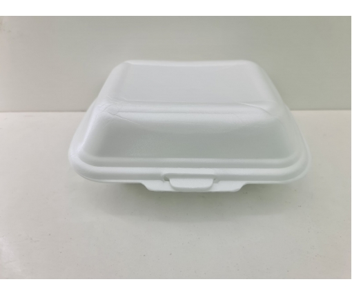 ᐉЛанч-бокс из вспененного полистирола с крышкой (190*150*60) белый HP-9 250штук в мешке