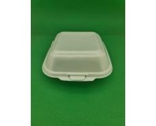 Ланч-бокс из вспененного полистирола с крышкой (150*152*60) белый HP-6  (250 шт)