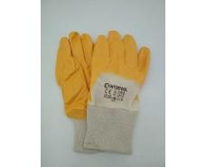 Хозяйственные перчатки Залитая Нитрил желтый №9 (12 пар)