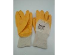 Хозяйственные перчатки Залитая Нитрил желтый №10 (12 пар)