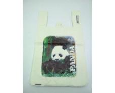 """Пакеты """"майка""""(28+2*7,5х49) с  изображения """"Панда """"Леони (100 шт)"""