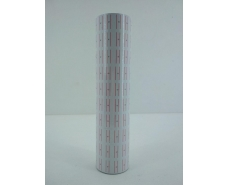 Ценник бумажный для этикет пистолета белый 12 Х 22 мм 400 лейб (намотка 4,8 метра) (10 шт)