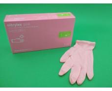 Перчатки Нитрил розовые (100шт) S (1 пач)