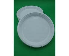 Одноразовая тарелка для второго блюда диаметр  220 мм Польша  (100 шт)