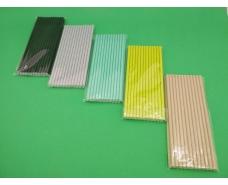 Соломка трубочка бумажная 25шт однотонная ассорти  (1 пач)