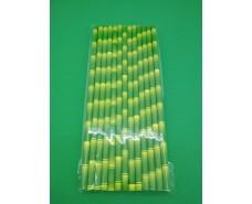 Соломка трубочка бумажная 25шт бамбук ассорти  (1 пач)