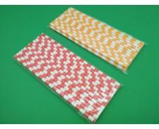 Соломка трубочка бумажная 25шт карамель ассорти  (1 пач)