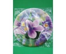 Бумажная тарелка с рисунком  18см