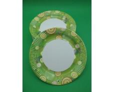 Бумажная тарелка с рисунком 100шт 23см