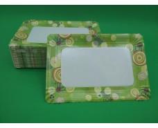 Бумажная тарелка с рисунком 100шт 15*22см