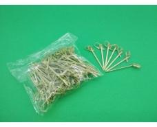 Палочки бамбуковые с узелком  6см,100 шт (1 пач)