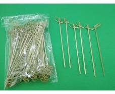 Шпажки бамбуковые с узелком 15см,100 шт (1 пач)