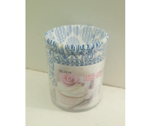 Бумажные формочки для выпечки кексов (10,5см) 100шт  (1 уп.)