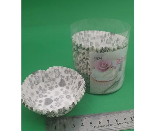 Бумажные формочки для выпечки кексов (11см) 100шт  (1 уп.)