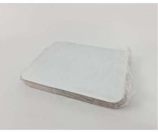 Крышка из картона ламинированного на контейнер SP98L 50 штук (1 пачка)