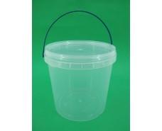 Ведро круглое с крышкой 3.3 л, прозрачное (100 шт)
