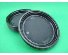 Тарелка  одноразовая пластиковая  220 мл Черная (50 шт)