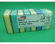 Mочалка для мытья посуды 8шт TOPack(Макси) (1 пач)