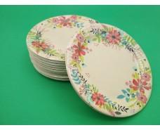 Бумажная тарелка с рисунком 100шт 18см