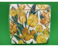 Салфетка (ЗЗхЗЗ, 20шт) Luxy  Золотистые Тюльпаны(1241) (1 пач)
