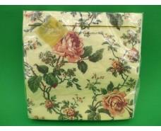 Салфетка (ЗЗхЗЗ, 20шт) Luxy  Переплетение из роз(1254) (1 пач)