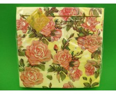 Салфетка (ЗЗхЗЗ, 20шт) Luxy  Живопись из роз(1232) (1 пач)