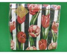 Салфетка (ЗЗхЗЗ, 20шт) Luxy  Тюльпановый модерн(1237) (1 пач)