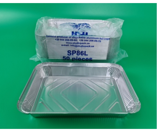 ᐉ Контейнер алюминиевый прямоугольный 2100 млл SP88L 50 штук (1 пач)