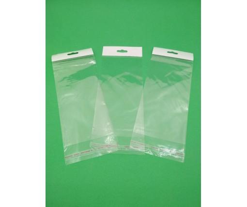 Пакет прозрачный из ППск  9*19+3\25мк +скотч(+еврослот3,5) (1000 шт)