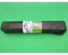 Одноразовый фартук полиэтиленовый 75/120/ а50  черный  (1 пач)
