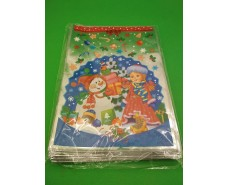 фольгированный пакет Н.Г (20*30) №04 Снегурочка и снеговик (100 шт)