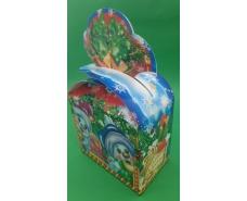 Новогодняя коробка для конфет №244(Бант Снеговики) на 500 грам (25 шт)